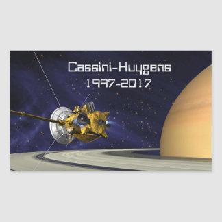 Cassini Huygens Saturn Mission Spacecraft Sticker