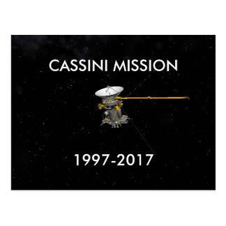 CASSINI MISSION 1997-2017 POSTCARD