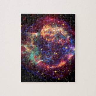 Cassiopeia Galaxy Supernova remnant Jigsaw Puzzle