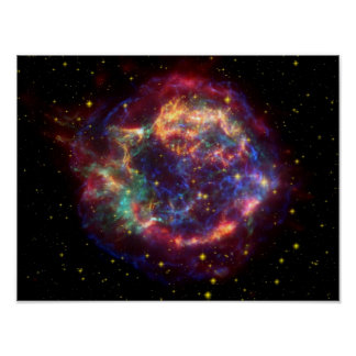 Cassiopeia Galaxy Supernova remnant Poster