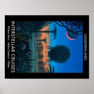 Cassiopeia Lines Interstellar Cruises Poster