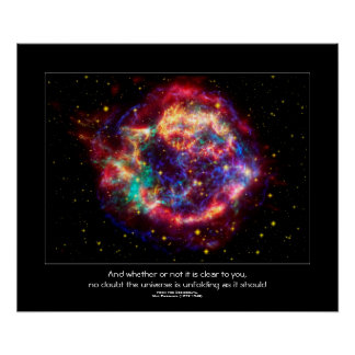 Cassiopeia, Milky Ways Youngest Supernova Poster