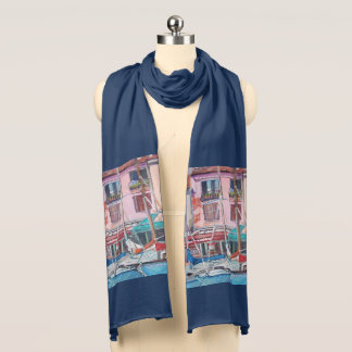 Cassis Harbor - Navy Jersey Scarf
