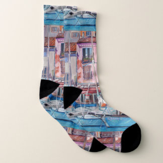 Cassis, Large All-Over-Print Socks 1