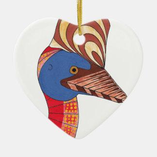 Cassowary Ceramic Ornament