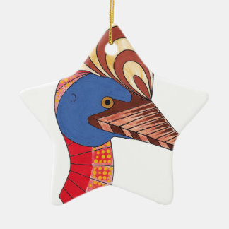 Cassowary Ceramic Ornament