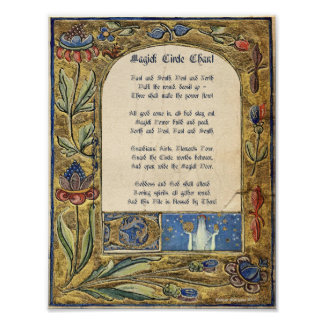 CAST a MAGICK CIRCLE CHANT Poster