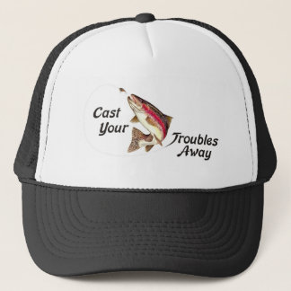 Cast Your Troubles Away Trucker Hat