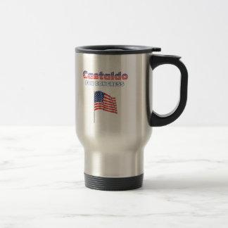 Castaldo for Congress Patriotic American Flag Desi Travel Mug