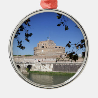 Castel Sant Angelo Silver-Colored Round Ornament