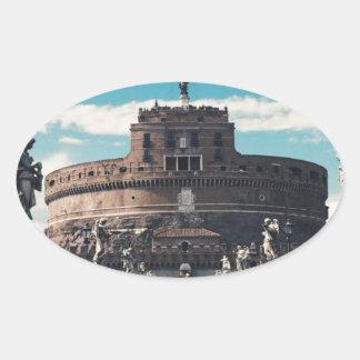 Castel Sant'Angelo Oval Sticker