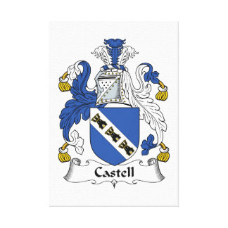 Castell Family Crest Canvas Print