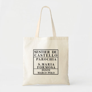 Castello-Formosa-Marco Polo, Venice, Street Tote Bag