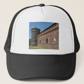 Castello Sforzesco (Sforza Castle) in Milan, Italy Trucker Hat
