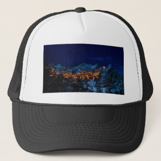 Castelmezzano Italy At Night Trucker Hat