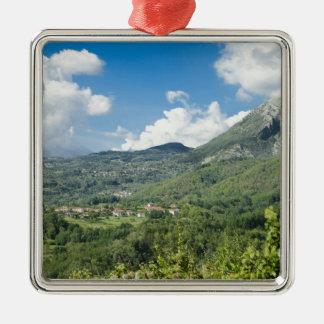 Castelnuovo di Garfagnana, Tuscany, Italy - 2 Silver-Colored Square Ornament