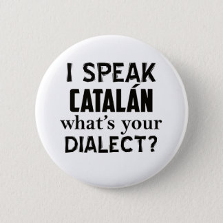 Castilian language designs 2 inch round button