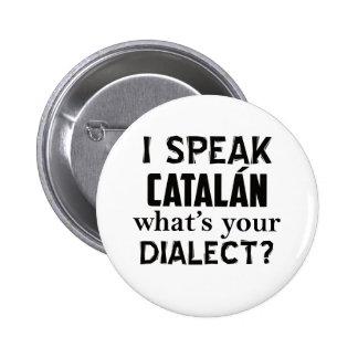 Castilian language designs 2 inch round button