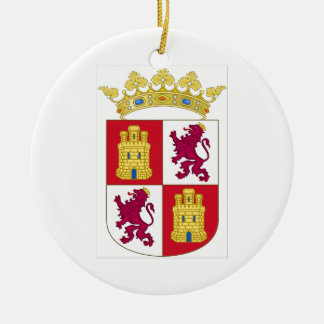 Castilla y Leon (Spain) Coat of Arms Ceramic Ornament