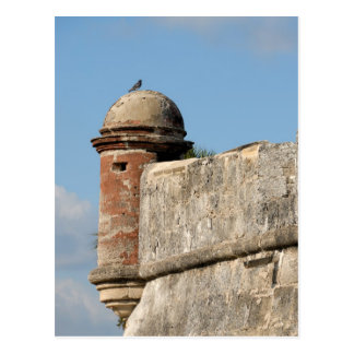 castillo de san marcos postcard