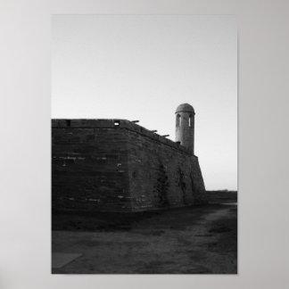 Castillo de San Marcos St. Augustine Florida B&W Poster