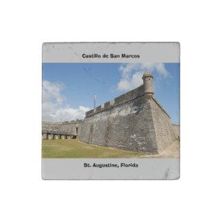 Castillo de San Marcos Stone Magnets