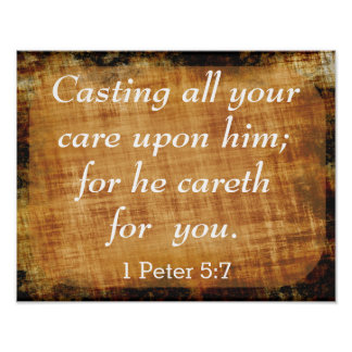 Casting  All Your Care - Scripture Art Print