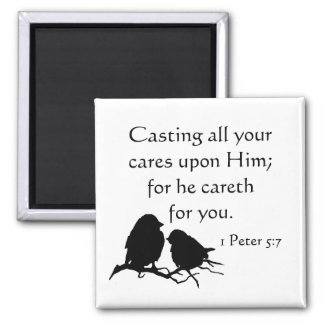 Casting all your Cares Upon Him 1Peter 5:7 Magnet