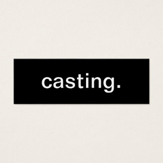 Casting Business Card