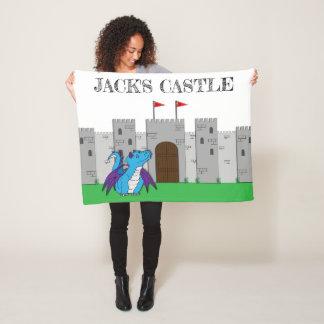 Castle and Dragon Fleece Blanket