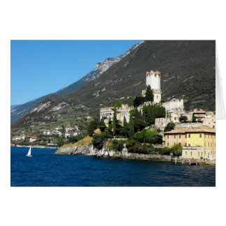 Castle and Lake Garda at Malcesine, Lake Garda Card