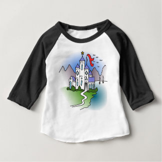 Castle and mountains baby T-Shirt