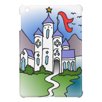 Castle and mountains iPad mini case