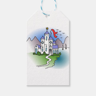 Castle and mountains pack of gift tags