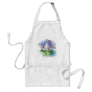 Castle and mountains standard apron