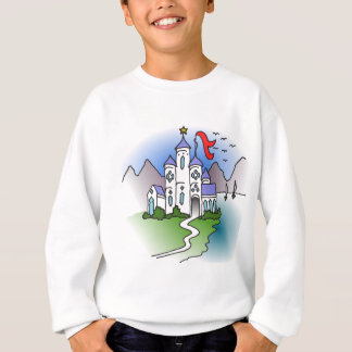 Castle and mountains sweatshirt