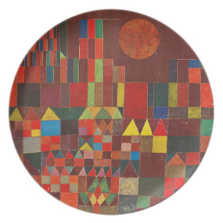 Castle and Sun, Paul Klee Expressionism Figurative Plate