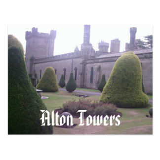 Castle at Alton Towers Postcard