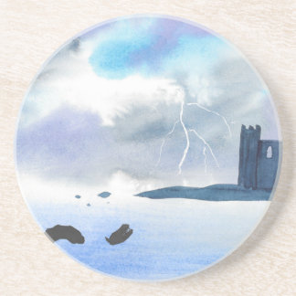 Castle By the Sea Beverage Coasters