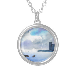 Castle By the Sea Silver Plated Necklace