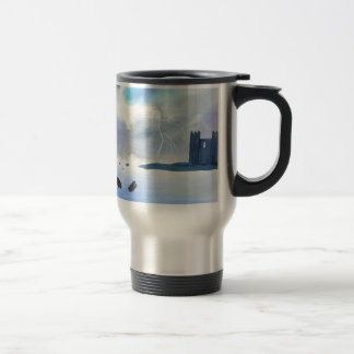 Castle By the Sea Travel Mug