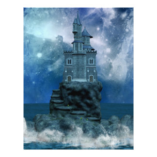 Castle by the Stormy Sea Flyer Design