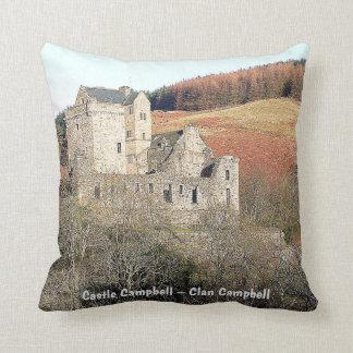 Castle Campbell & Inveraray Castle – Clan Campbell Throw Pillow