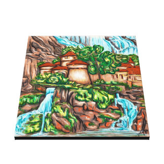 Castle Cascades Canvas Print