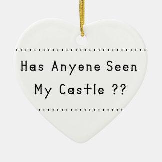 Castle Ceramic Heart Ornament