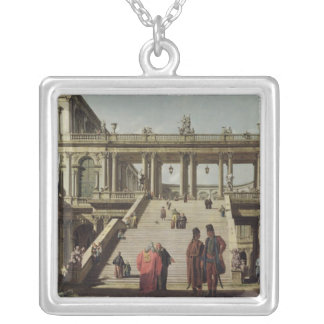 Castle Courtyard, 1762 Silver Plated Necklace
