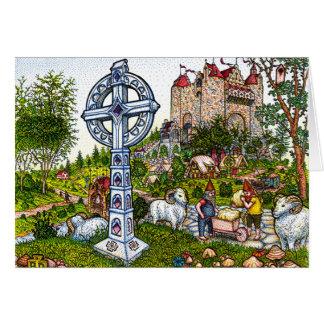 Castle Cross Greeting Card