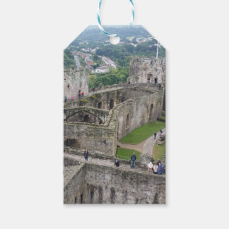 Castle design wrapping gift tags