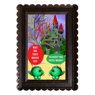 """Castle dragons party 5"""" x 7"""" invitation card"""
