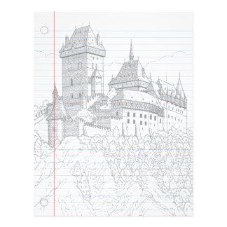 Castle Fantasy Notebook Paper